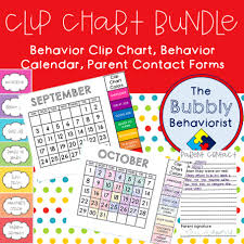 Classroom Clip Charts The Bubbly Behaviorist