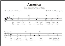 God Bless America Chord Chart America Free Lead Sheets And Easy Guitar Tabs