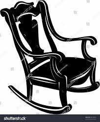 rocking chair silhouette. Rocking Chair Silhouette