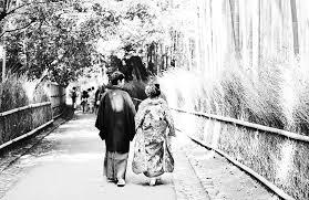 竹林での可愛い新郎新婦 京都 嵐山 前撮り Sunnys Lab