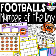 Interactive Number Flip Chart Number Of The Day Footballs Interactive Promethean Board Flipchart Printables