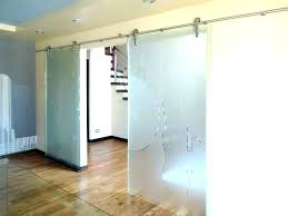 glass barn door for bathroom frosted glass barn doors with view larger image etched sliding door glass barn
