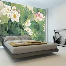 elegant lotus painting photo wallpaper 3d flowers wallpaper chinese style wall mural bedroom study kid living room decor art home decoration backgrounds