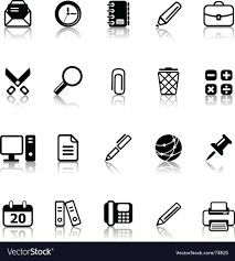 Office Icons Royalty Free Vector Image Vectorstock