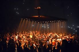 kanye west puts on an electric show for fans at td garden