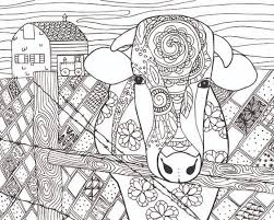 Small Picture FREE Cow Animal Coloring Page for Adults ART I LOVE Pinterest