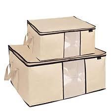 Amazon.com: MISSLO Pack 2 Folding Breathable Jumbo Storage Bag for ...