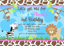 Invitation Cards Size Photoshop Free Animal Themed Birthday Party