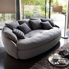 modern sofas for living room. Contemporary Sofa With Round Shapes And Soft Upholstery Fabric Modern Sofas For Living Room