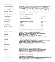 Resume For Team Leader In Bpo Free 15 Sample Bpo Resumes In Word Pdf