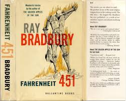 front cover of the first hardcover edition of fahrenheit 451 cover ilration by joe mugnaini