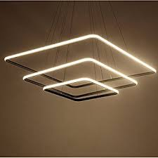 contemporary ceiling lighting. Royal Pearl Modern Square Led Chandelier Adjustable Hanging Light Three  Ring Collection Contemporary Ceiling Pendant Contemporary Ceiling Lighting I