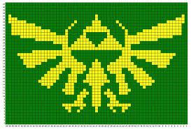 Triforce Charts Legend Of Zelda Triforce Pillow Pixel Crochet Cross