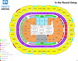 La Live Seating Chart Harry Styles Ppg Paints Arena