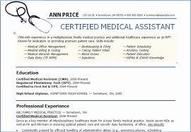 Certified Medical Assistant Resume Enchanting Certified Medical Assistant Resume Classic Summary For Medical