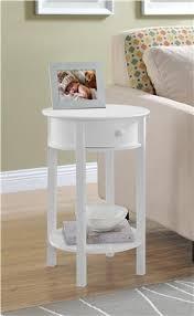 tipton round accent table white