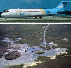 「ValuJet DC-9 minutes after takeoff from Miami International Airport on Mother's Day in 1996.」の画像検索結果