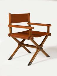 ralph lauren home director s chair in saddle leather and a cherry wood frame