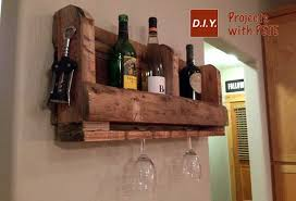 how to make a pallet wine rack