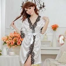 plus size silk robe plus size sexy lingerie new silk robe lace rim dress string set sexy