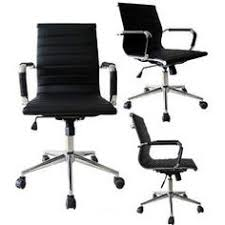 black mid back executive ribbed pu leather adjustable office task chair sears buy matrix mid office chair
