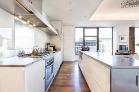 contemporary kitchen office nyc. view in gallery glossy kitchen counter shelves contemporary office nyc