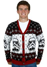 Star Wars Stormtrooper Ugly Sweater Cardigan Mens Men\u0027s Christmas