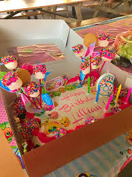 Shopkins Birthday Sheet Cake Kendras 7the Bday