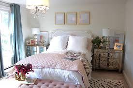 Pink White And Goldroom Picture Room Reveal Feminine My Guest With ...