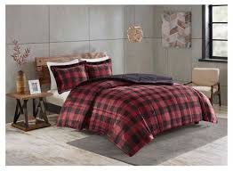 red and black buffalo plaid comforter