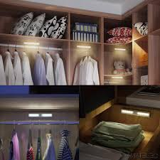 closet lighting battery. Motion Sensor Light Wireless Night 10 LED Battery Operated Aluminum Closet Lighting With Magnetic Strip Stick-on Anywhere For Closets Hallway G