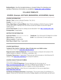 Course Outline Template 100 Images Course Curriculum Template