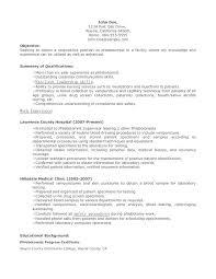 Phlebotomy Resume Objective Resume Sample No Experience Resume