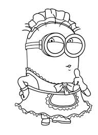 Despicable Me Coloring Pages Minion And Booka Cartoon Coloring