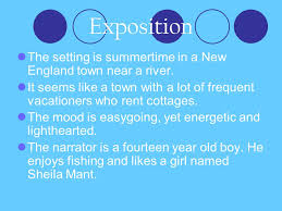 tuesday th agenda journal check vocabulary ppt exposition the setting is summertime in a new england town near a river it seems