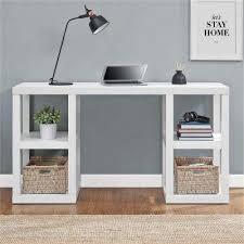 white home office furniture. parsons white desk home office furniture