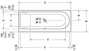 bathtub dimensions