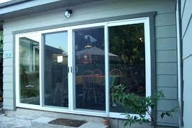 sliding glass door lock 3 panel home depot doors