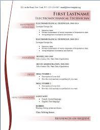 2014 resume format
