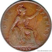 1919 S Penny Value Chart 1919 Kn Uk Penny Value George V Kings Norton Mint