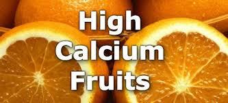 Calcium Content Of Foods Chart Top 10 Fruits Highest In Calcium