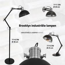 Industriële Zwarte Tafel Bureaulamp Brooklyn ø 25cm