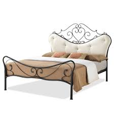 Shabby Chic Headboard Baxton Studio Alanna Queen Size Shabby Chic Metal Platform Bed