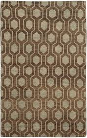 tommy bahama brown oval hexagons lines contemporary area rug geometric 56504