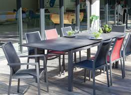 Ensemble table Soto HPL + 6 chaises Ida - Salons de jardin Proloisirs