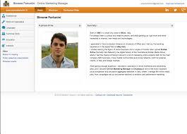 Amusing Online Resume Website Sample On Examples Templates Fair