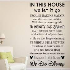extravagant disney wall decor vinyl home decorating idea decal unavocecr e for nursery plaque picture car
