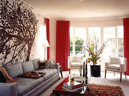 Gold And Red Living Room With Puzzle Shelving  Metropolitan Red Curtain Ideas For Living Room