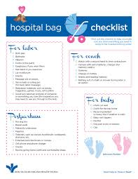 list of items needed for baby hospital bag checklist for new infographic bon secours