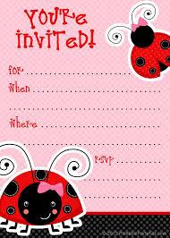Ladybug Invitations Template Free 1 Free Printable Ladybug Invitation Blank Template 2